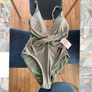 Becca Olive Green One Piece NWT